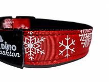 Pre zvieratá - Obojek Christmas červený - 13661139_