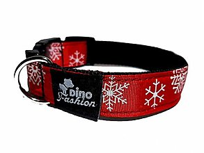 Pre zvieratá - Obojek Christmas červený - 13661138_
