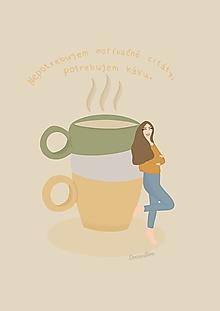 """Grafika - Ilustrácia """"Nepotrebujem motivačné citáty, potrebujem kávu :)"""" - 13661334_"""