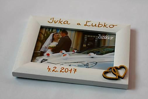 Biely svadobný fotorámik - lišta 3 cm