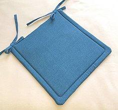 Textil - Podsedák na školskú stoličku modrý - 13660748_