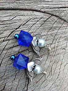 Náušnice - Náušničky angel modré - 13660310_