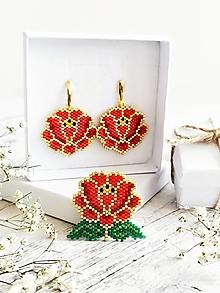 Sady šperkov - Z babičkinej záhrady | Veľká ružička - 13662180_