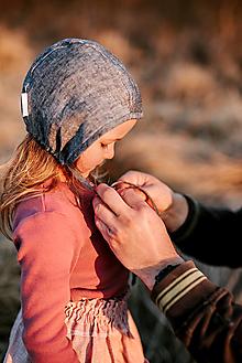 Detské čiapky - Čepiec 100% ľan bez šiltu - 13662350_