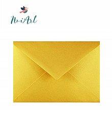 Papier - Obálka zlatá metalická C6 - 13663423_
