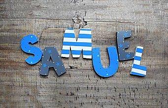 Detské doplnky - písmenká pre Samuela - 13664257_