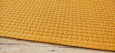 Textil - Úplet - Pletenina - cena za 10 centimetrov (Žltá) - 13665036_