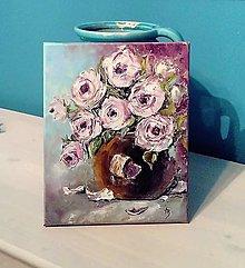 Obrazy - Ruže v hnedej váze 2 - 13663656_
