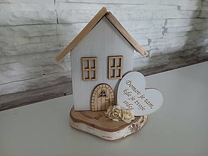 Dekorácie - Drevený domček - 13663127_
