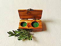 Krabičky - Drevená krabička na prstene - 13663252_