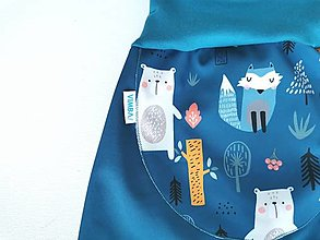 "Detské oblečenie - Softshellky ""happy animals"" - 13663911_"