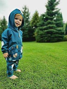 """Detské oblečenie - Softshellka """"happy animals"""" - 13663951_"""