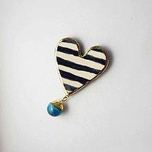 Brošne - Tana šperky - keramika/zlato - 13664241_