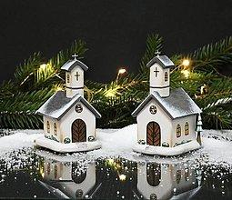 Dekorácie - Drevený kostolík  - 13664395_
