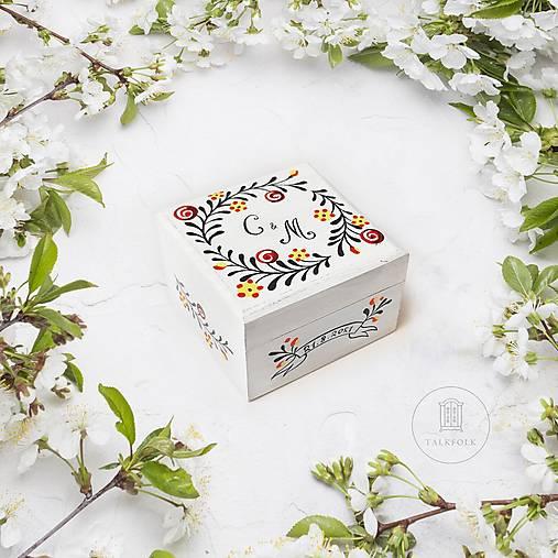 Krabička na svadobné obrúčky (Janka + Adam)