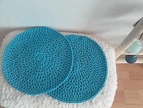 Úžitkový textil - Podsedák tyrkysovy - 13665709_