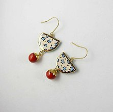 Náušnice - Tana šperky - keramika/zlato - 13665804_