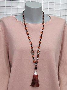 Náhrdelníky - Medený náhrdelník - 13666069_