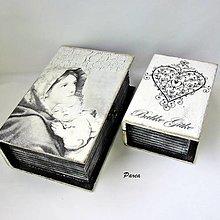 Krabičky - Drevené knihy- sada 2 ks - 13669997_