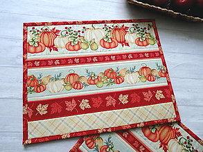 Úžitkový textil - Pumpkin Spice ... prestieranie 2 ks - 13668510_