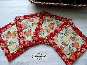 Úžitkový textil - Pumpkin Spice ...  podložky 4 ks - 13668522_
