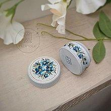 Prstene - Maľovaná šperkovnička  (Nezabudky) - 13668003_