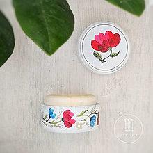 Prstene - Maľovaná šperkovnička  (Mak) - 13669143_