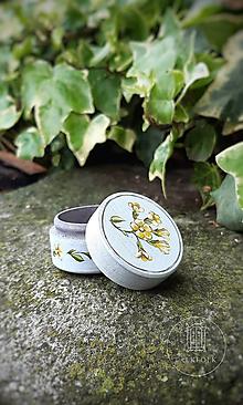 Prstene - Maľovaná šperkovnička  (Prvosenka) - 13669150_