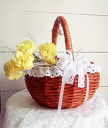 Košíky - Svadobný košíček z čerešňového dreva / skladom 2 ks - 13668296_