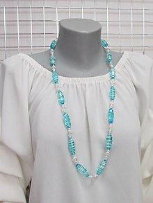 Náhrdelníky - Tyrkysový náhrdelník - 13668744_