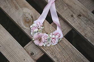 Náhrdelníky - Romantický kvetinový náhrdelník - 13673072_