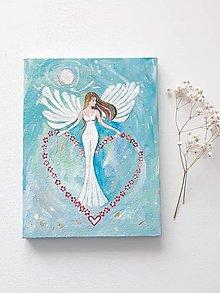 Obrazy - Anjel pre teba, 18 x 24 cm, akryl - 13672210_