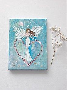 Obrazy - Anjel pre teba, 18 x 24 cm, akryl - 13672216_