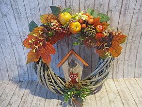 Dekorácie - Jesenný venček - 13671003_
