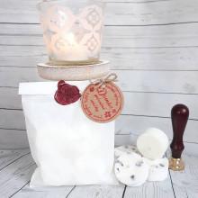 Svietidlá a sviečky - Sójové čajové sviečky v papierovom vrecku - 13672304_