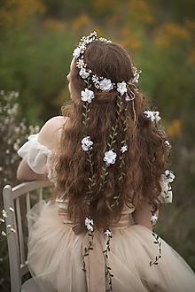 """Ozdoby do vlasov - Kvetinový venček so závojom """"keď v duši kvitne"""" - 13671123_"""