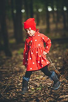 Detské oblečenie - jarný kabátik botka červený - 13672368_