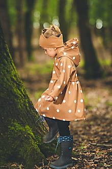 Detské oblečenie - jarný kabátik botka hnedý POSLEDNÝ 116 - 13672411_