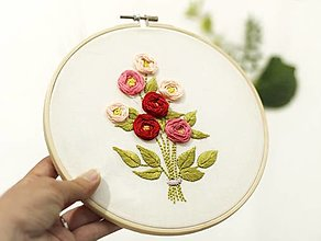 """Dekorácie - Vyšívaný obraz """"Kytica kvetov"""" - 13672874_"""