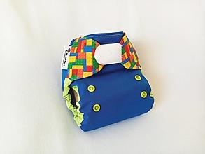 Detské doplnky - Modrý svet z kociek - PUL Kapsovka (XS-S) + vkladačka - 13672486_