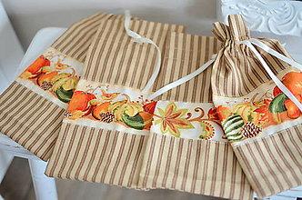 Úžitkový textil - Jesenné vrecúška - 13674011_