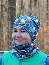 Detské čiapky - Bágre čiapka, nákrčník alebo set (Čiapka tyrkysové vnútro) - 13675437_