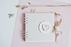 - Mini album - srdiečko LOVE 15x15 - 13675088_
