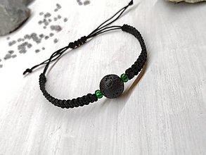 Náramky - Náramok čierny s lávovým kameňom - 13676023_