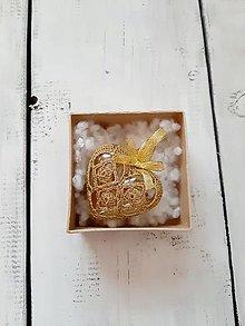 Dekorácie - zlaté - 13673838_