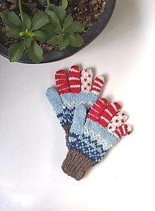 Detské doplnky - Prstové detské rukavice belasé - 13674988_