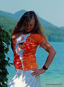 Tričká - Dámske tričko batikované, maľované TAK SI MA ZÍSKAJ - 13674013_