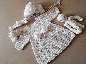 Detské oblečenie - Supravyčka na krst (dlhý rukáv) - 13674851_
