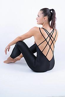 Iné oblečenie - Funkčný overal – basic - black (XS) - 13675030_