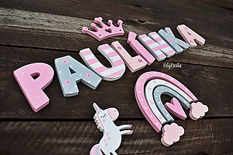 Detské doplnky - Písmenká pre Paulínku...na želanie - 13676385_